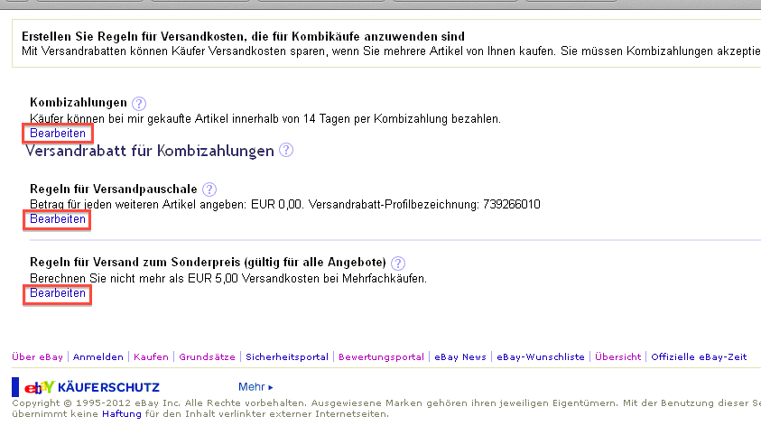 Versandregeln Ebay Wie übernehme Ich Eigene Versandregeln Faq Otrs